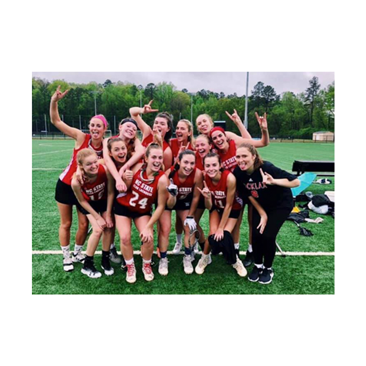 The NC State Women's Lacrosse team